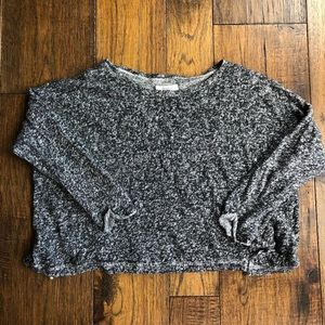 Madewell Black & White blended soft Crop sweater